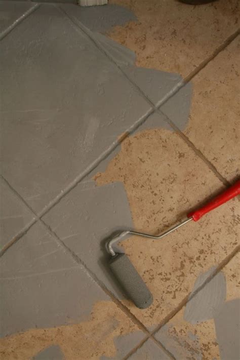 Painting Tile Floors In Bathroom by Painting Ceramic Tile Via Green Notebook House