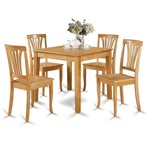 wooden importers oxford  piece dining set reviews wayfair