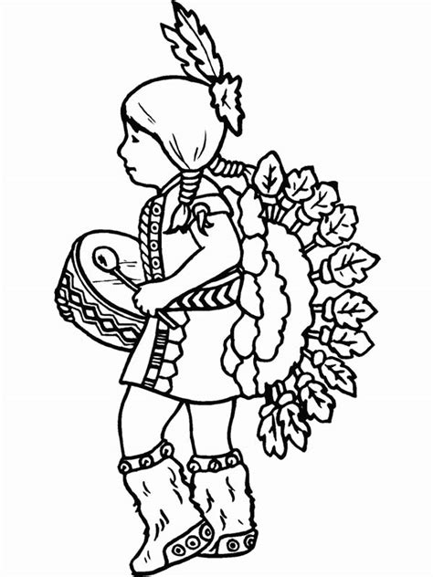 native american boy coloring pages   print