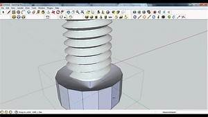 SketchUp Pro 8 - Modelling a Bolt and Nut - YouTube