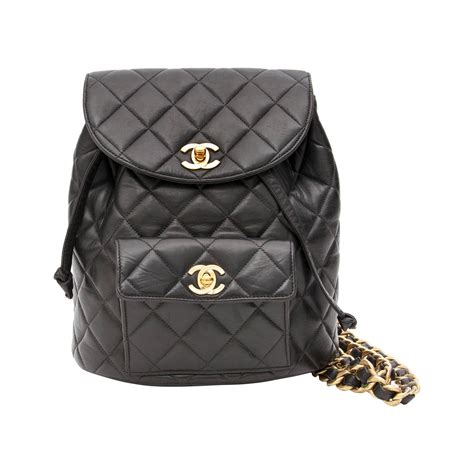 chanel quilted backpack chanel black quilted leather backpack at 1stdibs