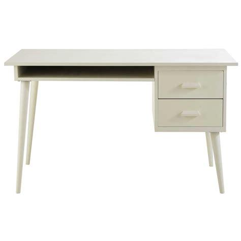 bureau 130 cm bureau en bois ivoire l 130 cm alix maisons du monde
