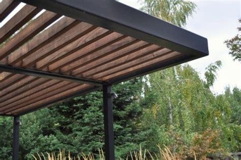 pergola steel and wood wood and metal