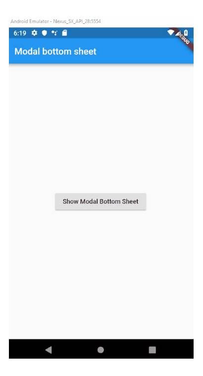 Bottom Sheet Flutter Modal Create Example