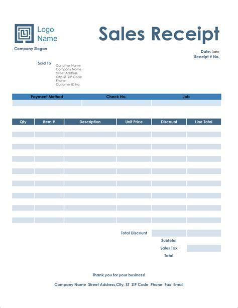 receipt templates   microsoft word