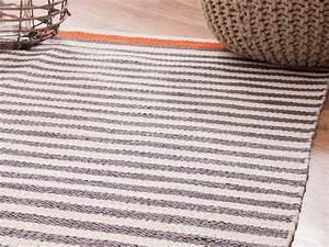 Tapis En Coton : tapis en coton id es de d coration int rieure french decor ~ Nature-et-papiers.com Idées de Décoration