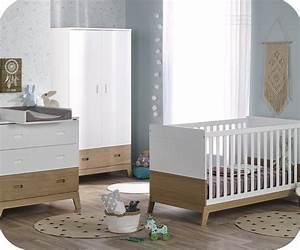 Chambre Bebe Fille Complete : chambre b b compl te aloa blanche et bois ~ Teatrodelosmanantiales.com Idées de Décoration