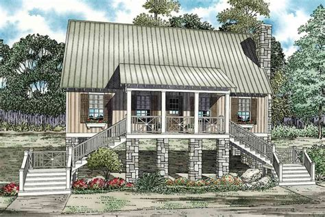 Elevated Cabin Cottage  59953nd  Architectural Designs