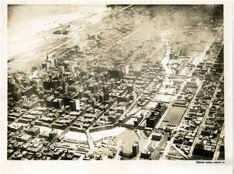 aerial view chicago river burnham plan centennial