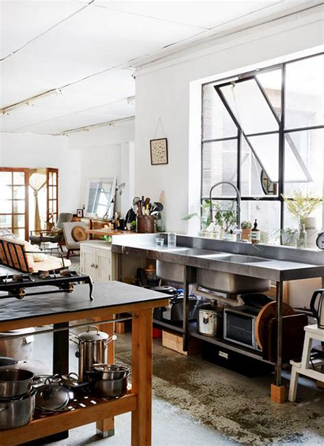 small kitchens with islands designs cool and minimalist industrial kitchen design home
