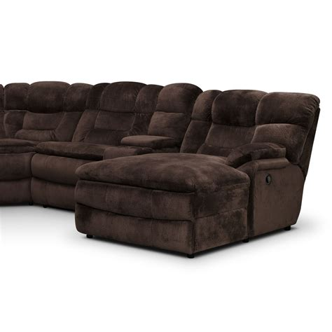 large sectional sofas with recliners big softie 6 piece power reclining sectional with right