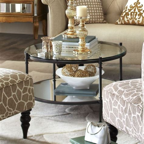 How to decorate thanksgiving table? 45 Classy Round Glass Coffee Table Designs Ideas For Living Room | Table decor living room ...
