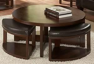 Grande Table Basse Ronde : la table basse avec pouf pour un style de vie moderne ~ Teatrodelosmanantiales.com Idées de Décoration