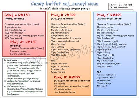shidasyakirin pakej candy buffet murah