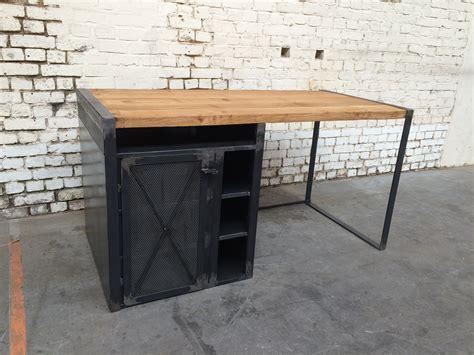 bureau en metal bureau rg 39 bu005 giani desmet meubles indus bois métal