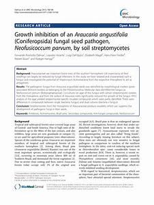 (PDF) Growth inhibition of an Araucaria angustifolia ...