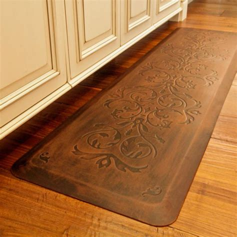 anti fatigue kitchen floor mats classic scroll anti fatigue kitchen comfort mat frontgate 7457