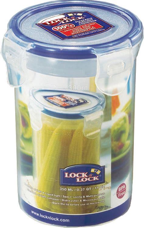 Lock & Lock Classics Tall Round Food   350 ml Plastic Food