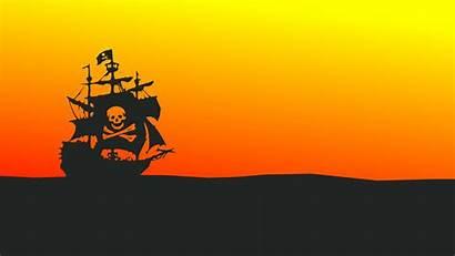 Pirate Ship Minimalist 4k Minimal Wallpapers Flag