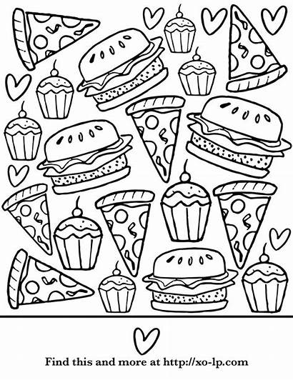 Coloring Pages Summer Pizza Printable Protein Break