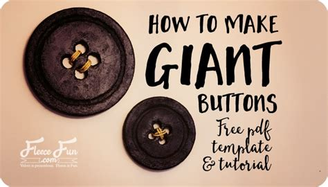 How To Make Giant Buttons For Wall Decor ♥ Fleece Fun