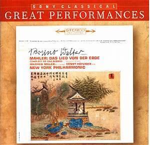 MAHLER Das Lied von der Erde Sony 82876 6787522 [JQ] Classical CD Reviews August 2006