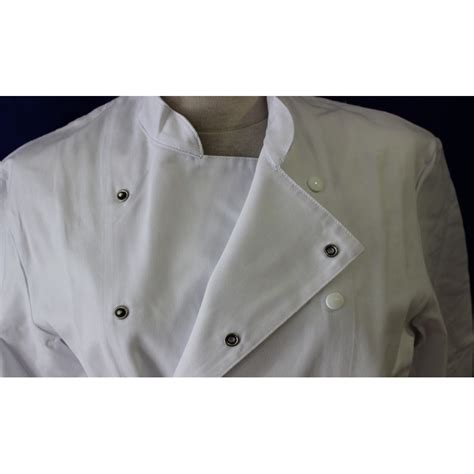 veste de cuisine blanche homme à manche longue pas cher