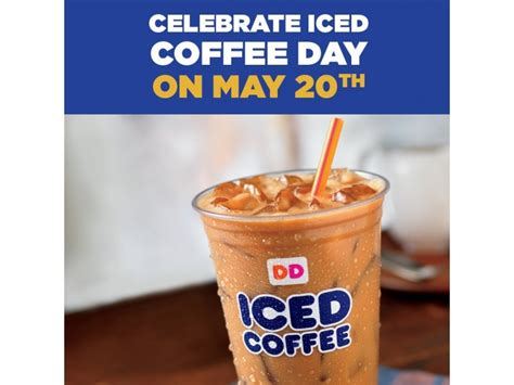 Dunkin' Donuts Iced Coffee Day Is Wednesday, May 20 Instant Coffee Kosher Harlow Small Table Laxative Ulcers Under Eyes Glass Germany Pictures