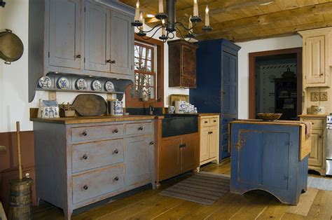Primitive Decor Kitchen Cabinets by Reproduction Peoria Il Saltbox House Traditional Kitchen