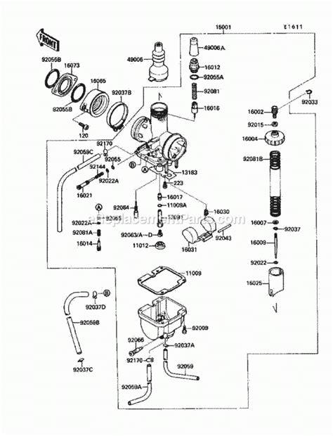 Kawasaki Bayou Parts by Kawasaki Bayou 220 Parts Diagrams Automotive Parts