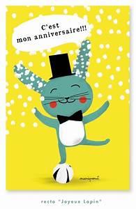 Carte Anniversaire Pour Enfant : carte d 39 invitation anniversaire d 39 enfant lapin joyeux ~ Melissatoandfro.com Idées de Décoration