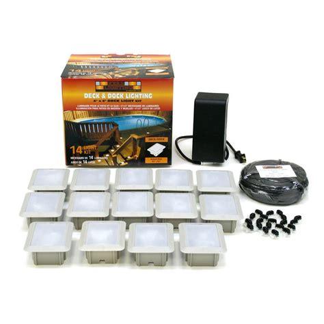 home depot outdoor lighting kits kerr lighting deck dock mount 14 light outdoor light kit