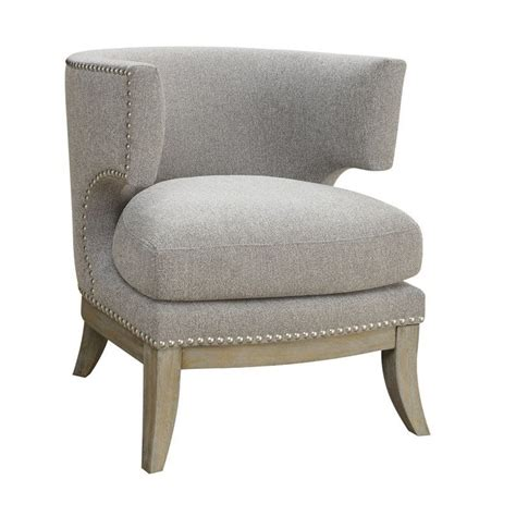 dining chair cusions coaster barrel back upholstered accent chair in gray 902560