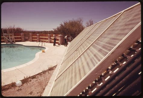 Solar Heating Drapes - file solar heating panels used to heat a swimming pool at