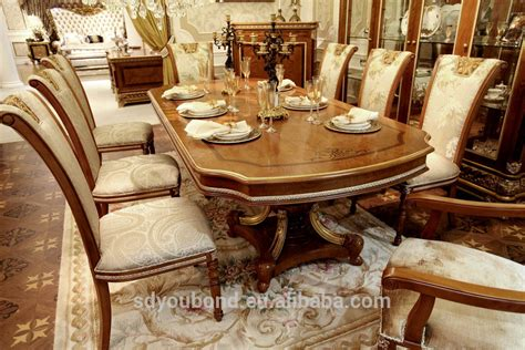 0062 european classic dining room table design oval wooden