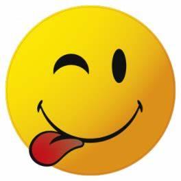 Autocollant Smiley tire la langue