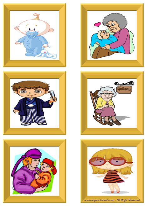 family member esl printable english flash cards worksheets