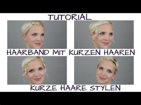 kurze haare stylen zwei haarband frisuren youtube