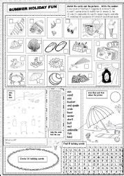 summer worksheets  elementary students easy craft ideas