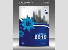 Cover Calendar 2019 year vector tempalte 06 free download