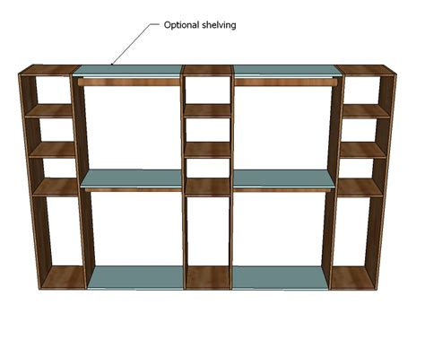 woodworking build your own custom closet shelving plans