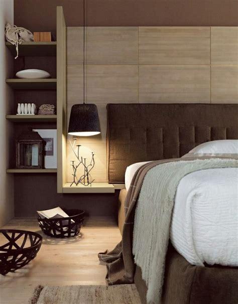 tete de lit avec rangement pour une chambre  organisee