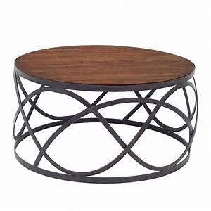 Table Basse Fer Forgé : table de salon ronde table basse pin massif maisonjoffrois ~ Teatrodelosmanantiales.com Idées de Décoration