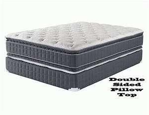 Double pillow top mattress set twin full queen and king bed for Double pillow top queen mattress set