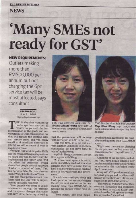 News Malaysia Good Service Tax Gst Implementation