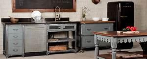 Meuble De Cuisine Industriel : meuble cuisine style atelier gv58 jornalagora ~ Teatrodelosmanantiales.com Idées de Décoration