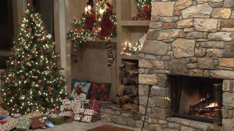 christmas scene   fire  stock video footage