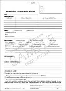 Hospital Discharge Forms