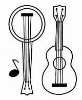 Guitar Banjo Coloring Pages Printable Print Game Music Play Categories sketch template