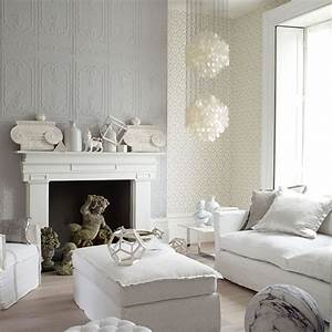 Decorative white and grey living room | Living room ...